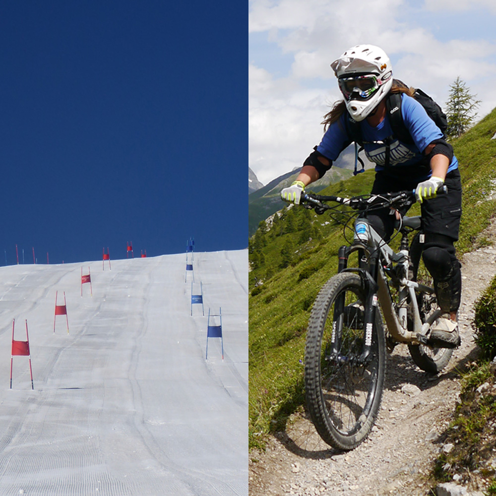 Summer ski & mountain bike course