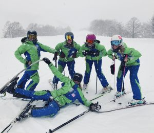 Snoworks GAP ski instructor in Japan on GAP course